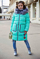Пальто детское Рейни - Мята№471
