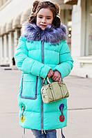Пальто детское Рейни - Мята №36