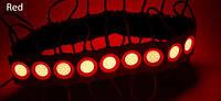 Светодиодный LED модуль COB R красный герметичный IP65, 2,4Вт