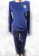 Спортивный костюм с полоской на рукавах велюровый женский , фото 1