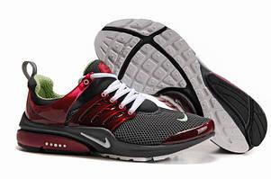 Женские кроссовки Nike Air Presto серо-бордовые