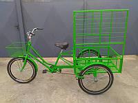 Велосипед трехколесный грузовой для взрослых «Цветочный»