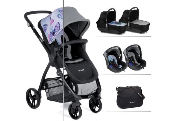 Детская коляска универсальная 3 в 1 Be Cool Slide-3 Cocoon  Butterfly (841/643)