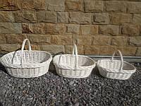 """Плетеный набор корзин из белой лозы """"Низьки"""", фото 1"""