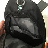 Рюкзак на одно плечо мини черный синий, фото 5