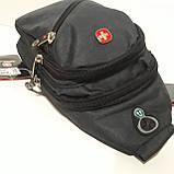 Рюкзак на одно плечо мини черный синий, фото 6