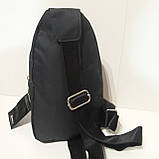 Рюкзак на одно плечо мини черный синий, фото 7