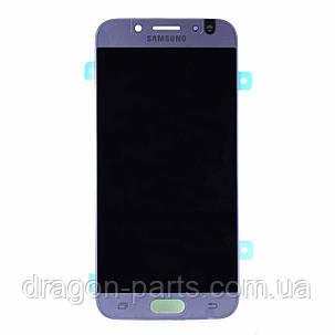 Дисплей Samsung J530 Galaxy J5 2017 с сенсором Серебряный Silver оригинал , GH97-20738B, фото 2