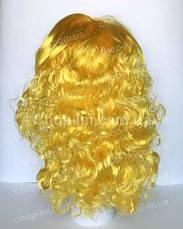 Парик желтый, кудрявый (55 см), фото 3