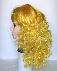 Парик желтый, кудрявый (55 см), фото 2