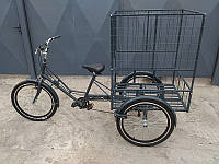 Велосипед трехколесный грузовой для уличной торговли «Марсель», велосипед для выносной торговли, веломобиль