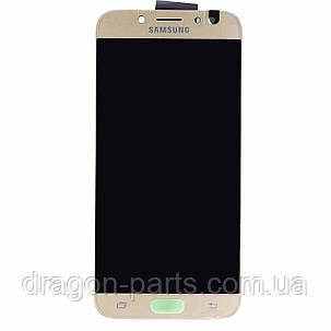 Дисплей Samsung J730 Galaxy J7 2017 с сенсором Золотой Gold оригинал , GH97-20736C, фото 2