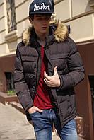Пуховик-Куртка зимняя мужская Джереми .ЦВЕТА! - Графит №40