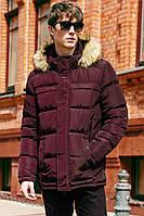 Пуховик-Куртка зимняя мужская Джереми .ЦВЕТА! - марсалла