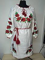 Женское платье вышивка - лен.