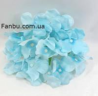 Гортензия -искусственный цветок(головка),цвет голубой d-14см
