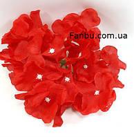 Гортензія -штучний квітка(головка),колір червоний d-14см