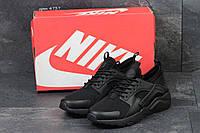 Мужские кроссовки Nike Huarache черные,плотная сетка, фото 1