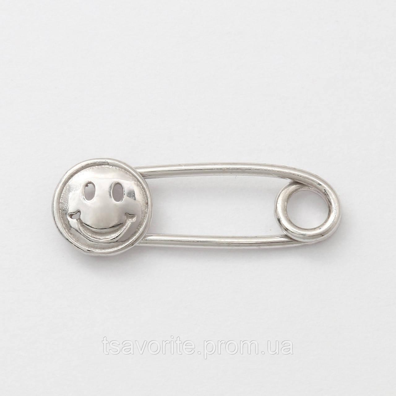 Серебряная булавка 6100083