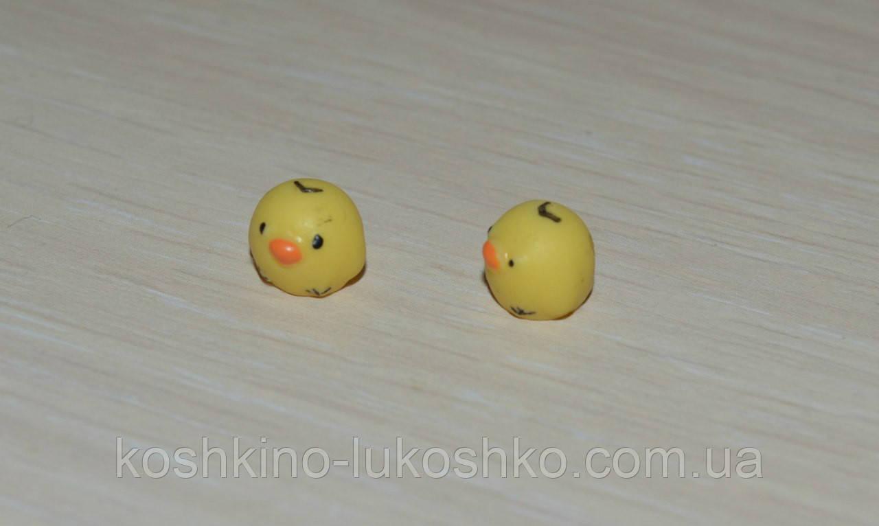 Мини фигурки цыплята. 8 * 7 мм