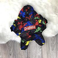 Зимний комбинезон для собак «DogBaby» Blue camouflage