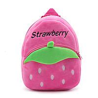 Рюкзак велюровый Клубника, розовый Berni