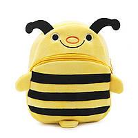 Рюкзак велюровый Пчелка Berni, фото 1
