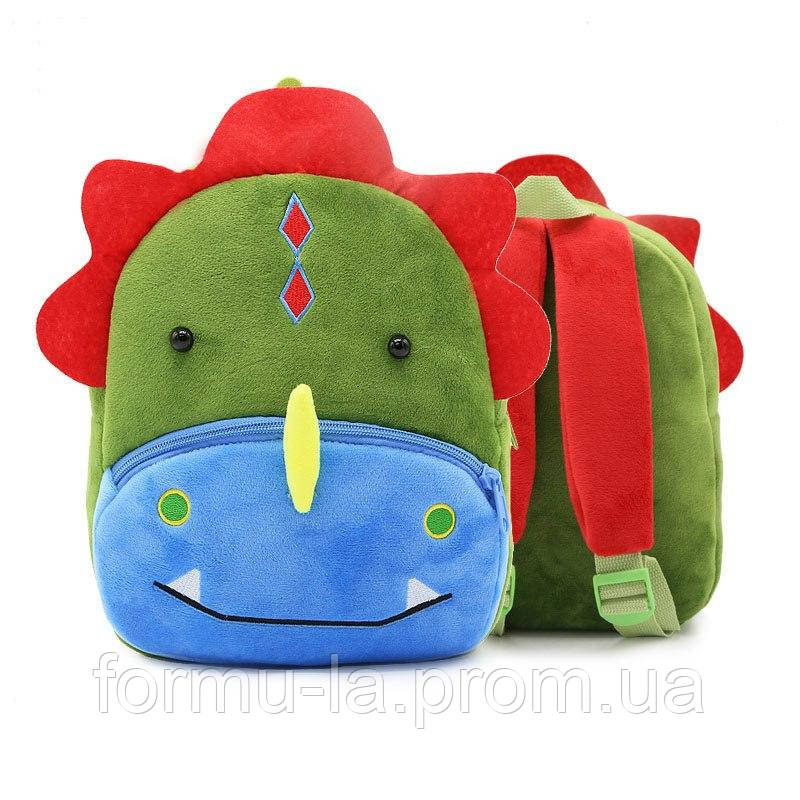 Рюкзак велюровый Динозавр Berni