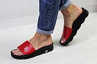 Тапки Nike 1091 красные