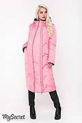 Стильное зимнее двухстороннее пальто для беременных