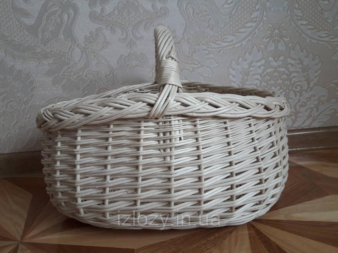 9e698a557752b Плетеная пасхальная корзина из белой лозы - Плетеные изделия из лозы в  Закарпатской области
