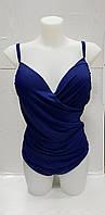 Купальник женский сдельный синий