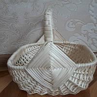 """Плетеная дитячая корзинка из белой лозы """"Колота"""", фото 1"""