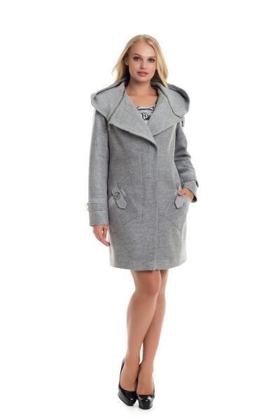 Модные женские пальто  42-50 серый