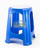 Табурет пластиковый 37х37х45см синий Горизонт (GR-05024-1)