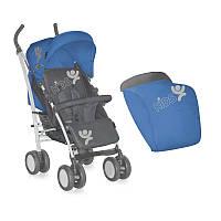 Детская коляска S-100 + FOOTCOVER BLUE&GREY KIDS