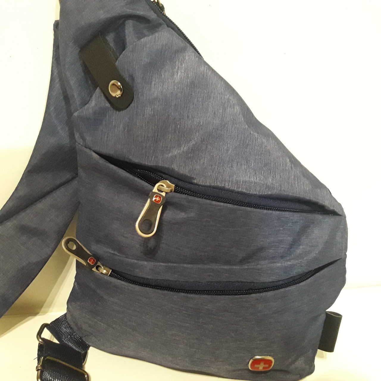 473711345684 Городской рюкзак Swissgear на одно плечо мини 7 л серый синий купить ...