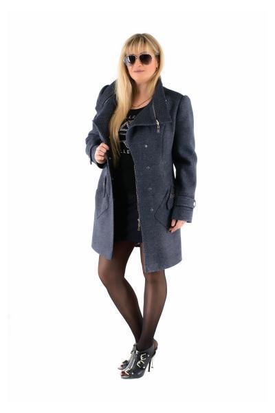 Осеннее пальто женское  модное 42-50 джинс