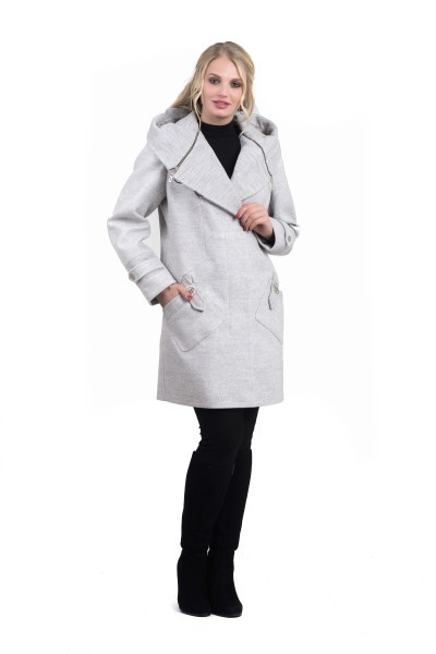 Женское демисезонное пальто 42-50 платина