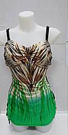 Купальник женский сдельный зеленый