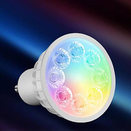 Светодиодная лампочка спотлайт MiLight MR16 GU10 4Вт ССT + RGB (2700-6500K) 220V, фото 2