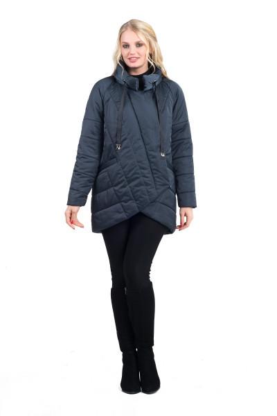 Куртки демисезонные женские с капюшоном 44-54 графит