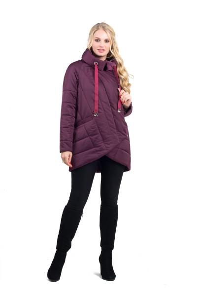 Женская демисезонная куртка   удлиненная  44-54  марсала