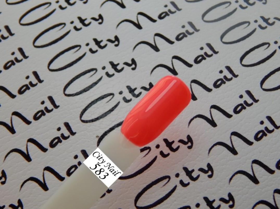 Гель-лак CityNail 583 кораловий (червоний, червоний, рожевий)