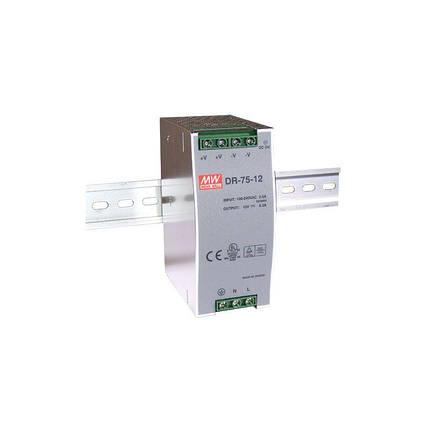 Блок питания Mean Well На DIN-рейку 76 Вт, 12V, 6.3 А DR-75-12, фото 2