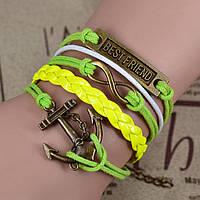 Плетеный браслет  hand made (дружба)