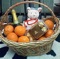 Корзина плетена подарункова, фото 1