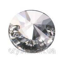 Пришивные риволи хрустальные Preciosa (Чехия) 10 мм Crystal 2-й сорт