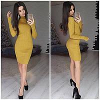 Платье-гольф 42-48 горчица, фото 1