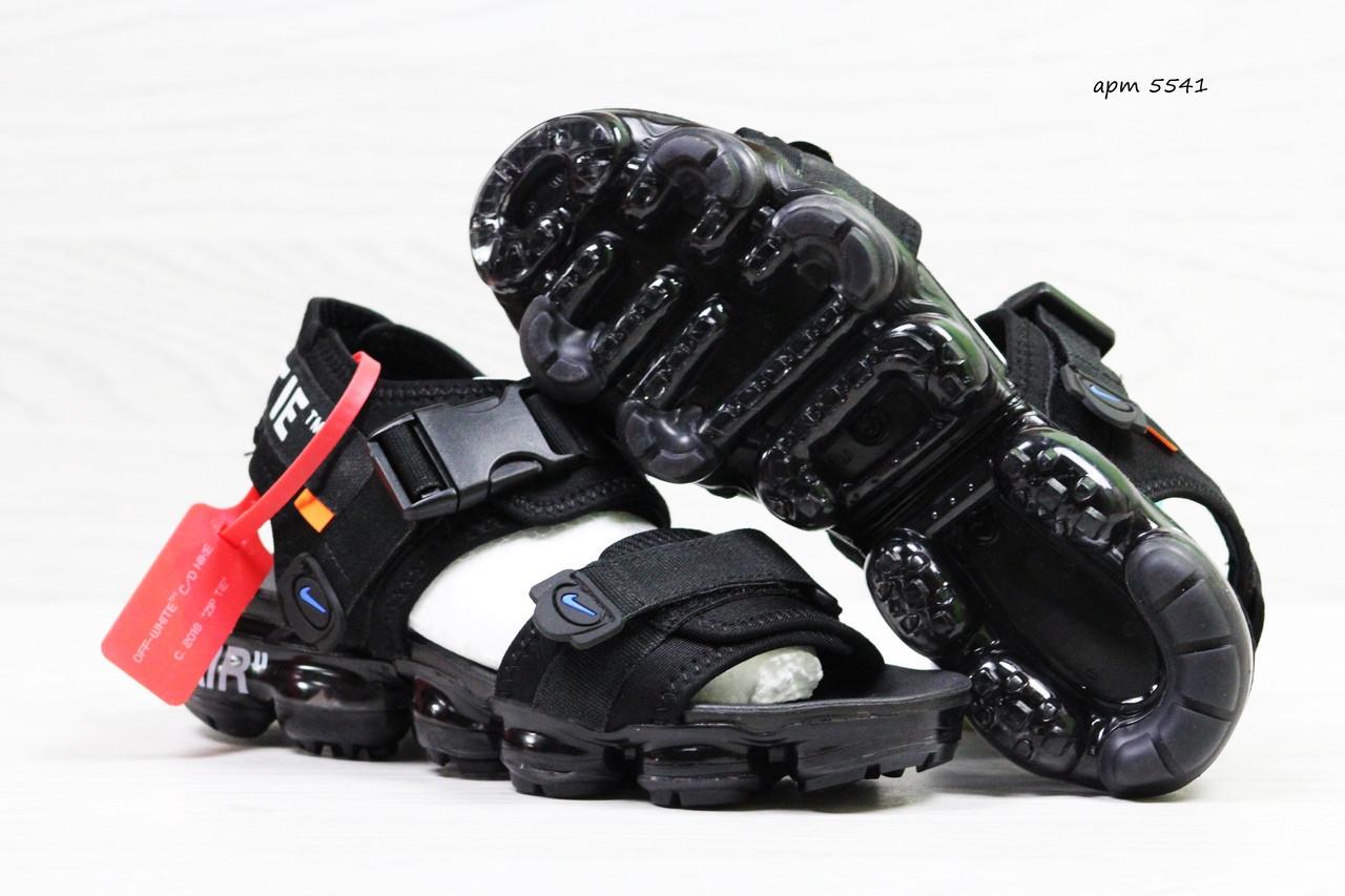 c5575eca Босоножки мужские Nike Sandals Off white x Nike Air VaporMax черные -  hobbi-sport в